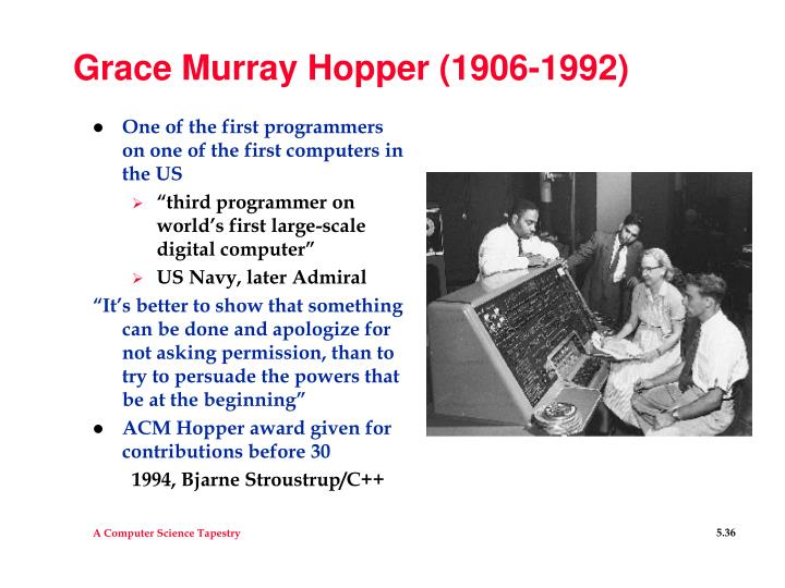 Grace Murray Hopper (1906-1992)