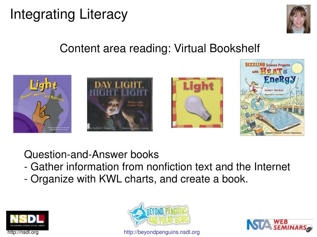 Content area reading: Virtual Bookshelf