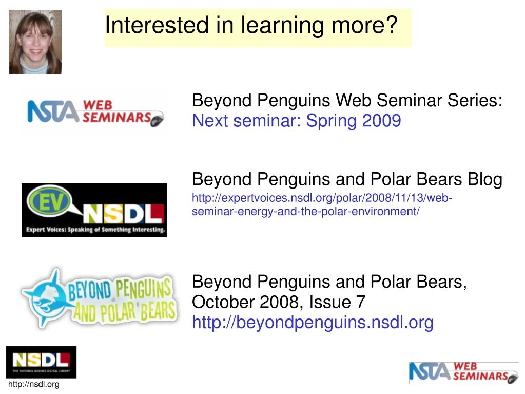 Beyond Penguins Web Seminar Series: