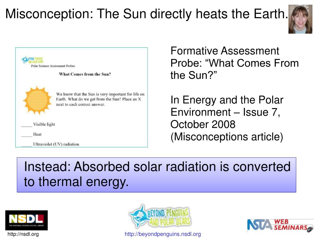 """Formative Assessment Probe: """"What Comes From the Sun?"""""""