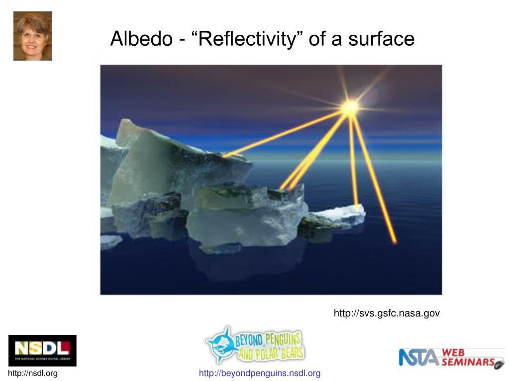 "Albedo - ""Reflectivity"" of a surface"