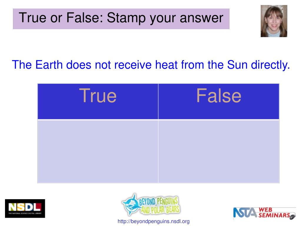 The Earth does not receive heat from the Sun directly.
