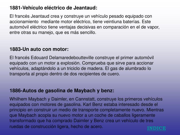 1881-Vehículo eléctrico de Jeantaud: