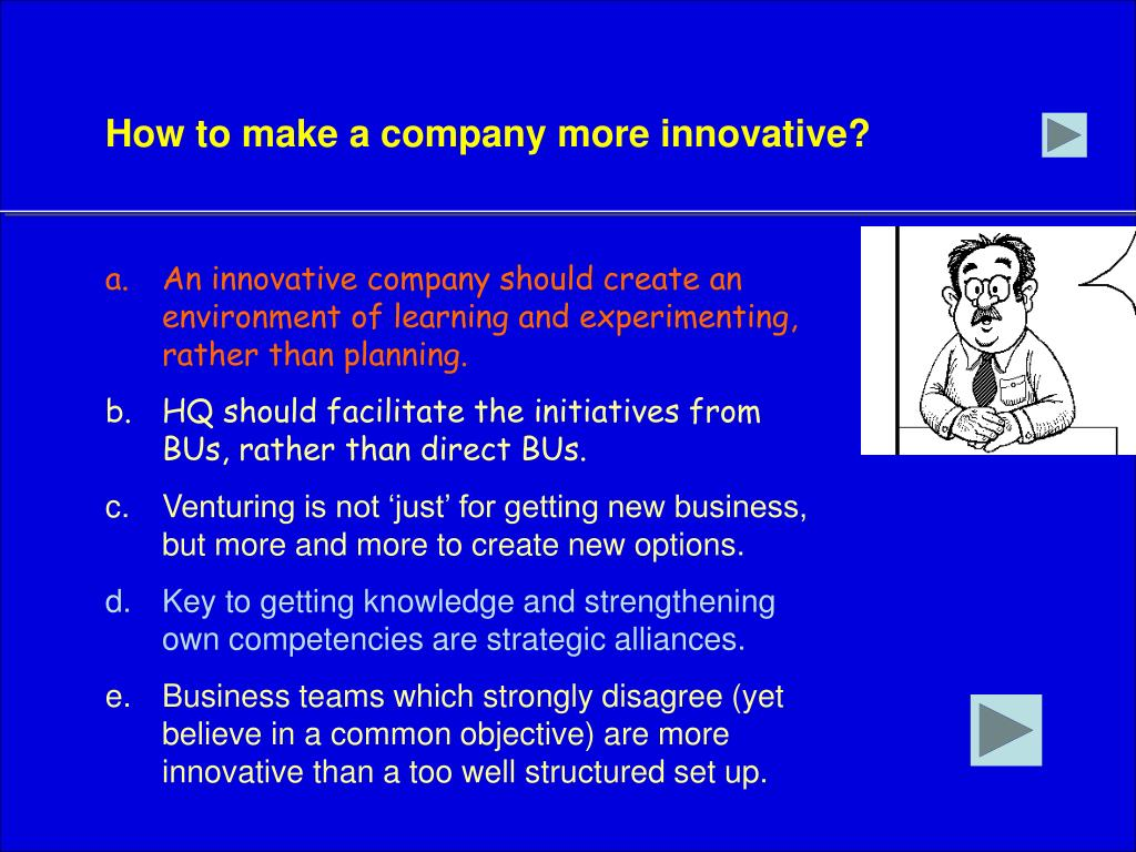 How to make a company more innovative?