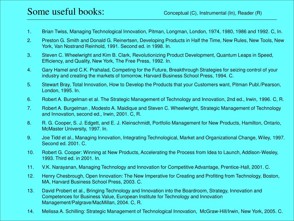 Some useful books: