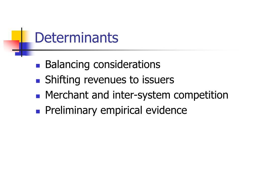 Determinants
