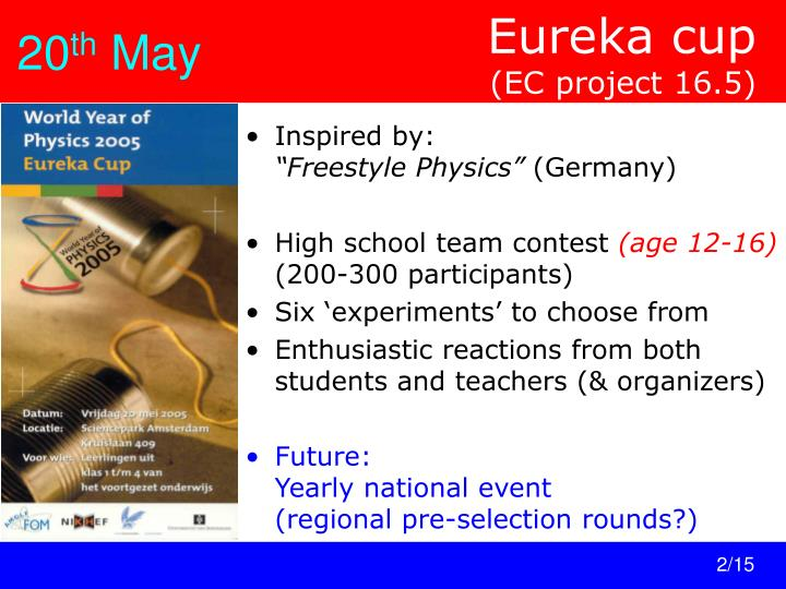 Eureka cup ec project 16 5