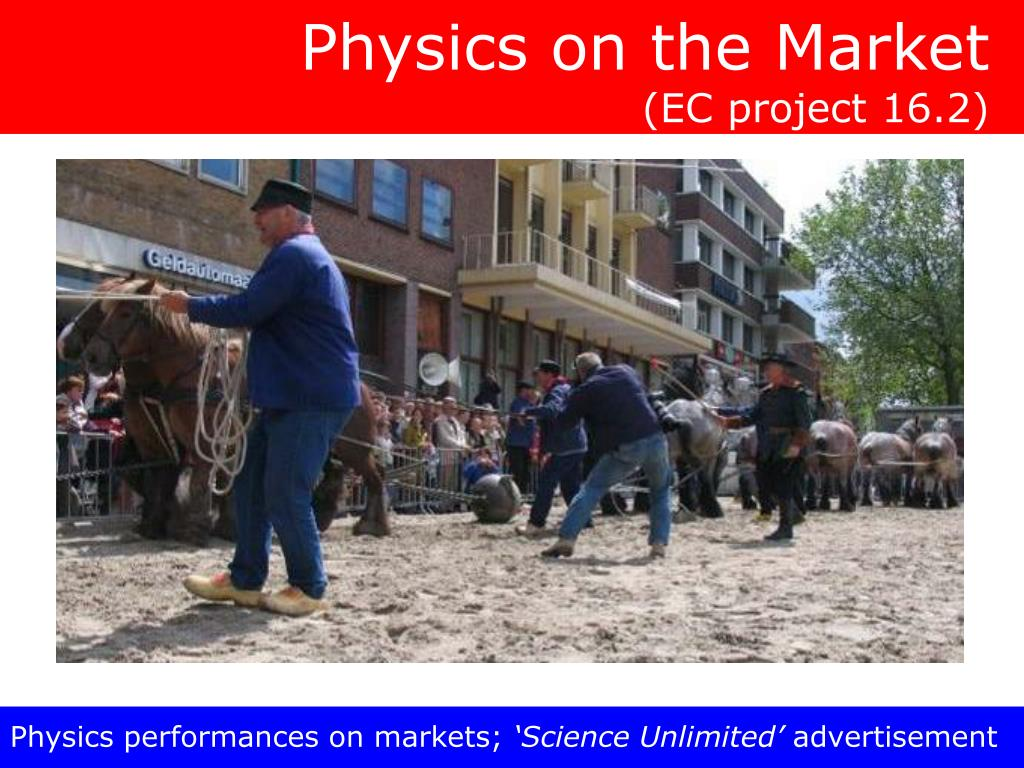 Physics on the Market