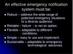 an effective emergency notification system must be