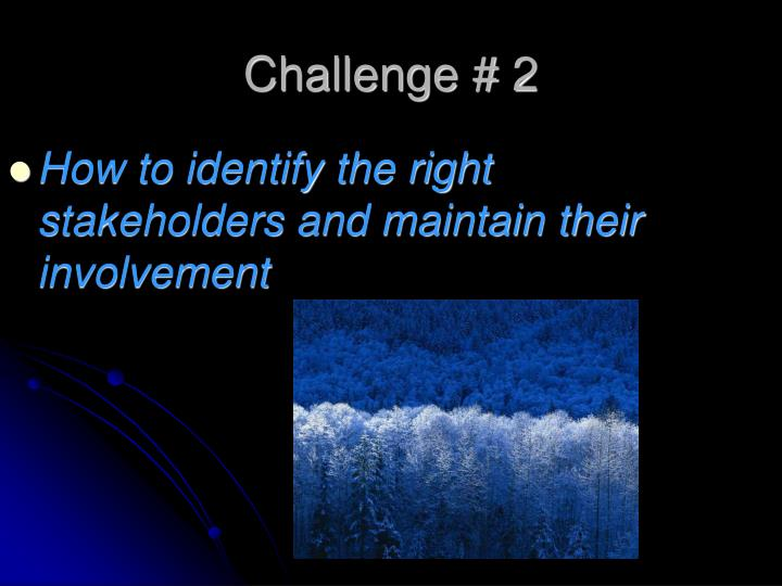 How to identify the right stakeholders and maintain their involvement