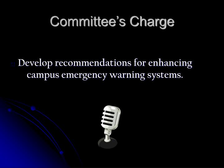 Develop recommendations for enhancing campus emergency warning systems.