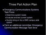 three part action plan