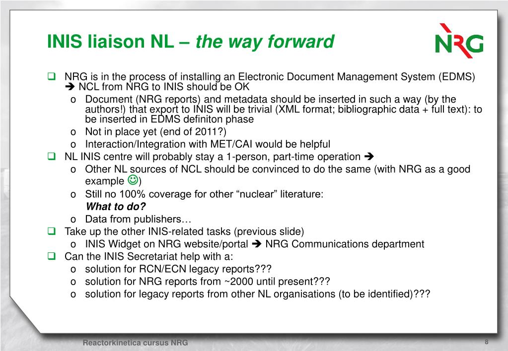 INIS liaison NL –