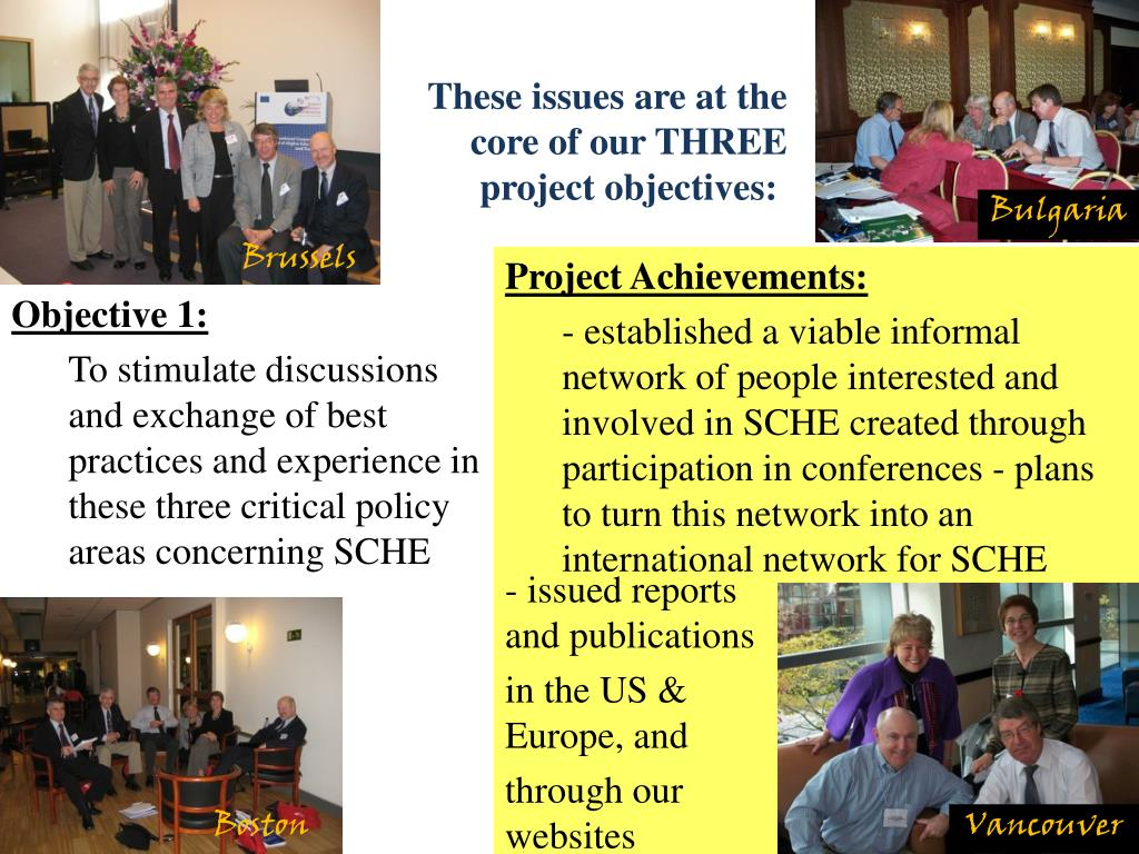 These issues are at the core of our THREE project objectives: