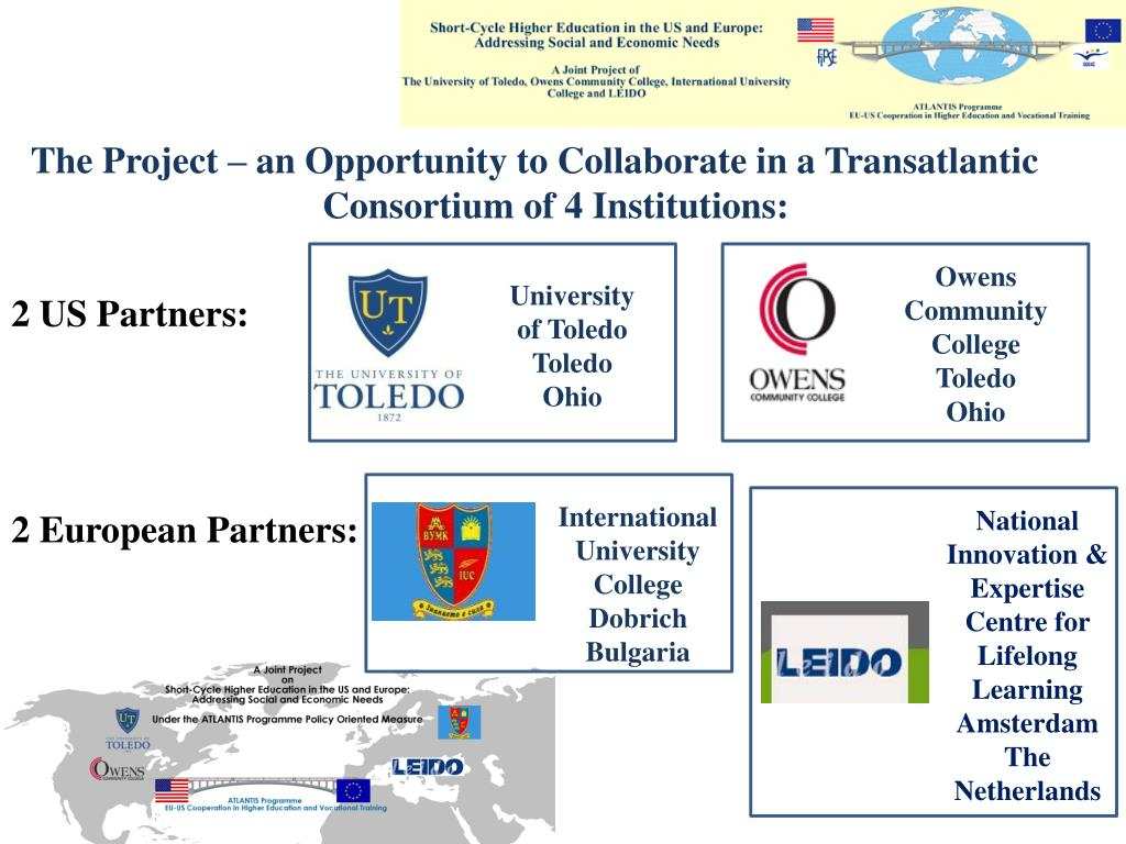The Project – an Opportunity to Collaborate in a Transatlantic Consortium of 4 Institutions: