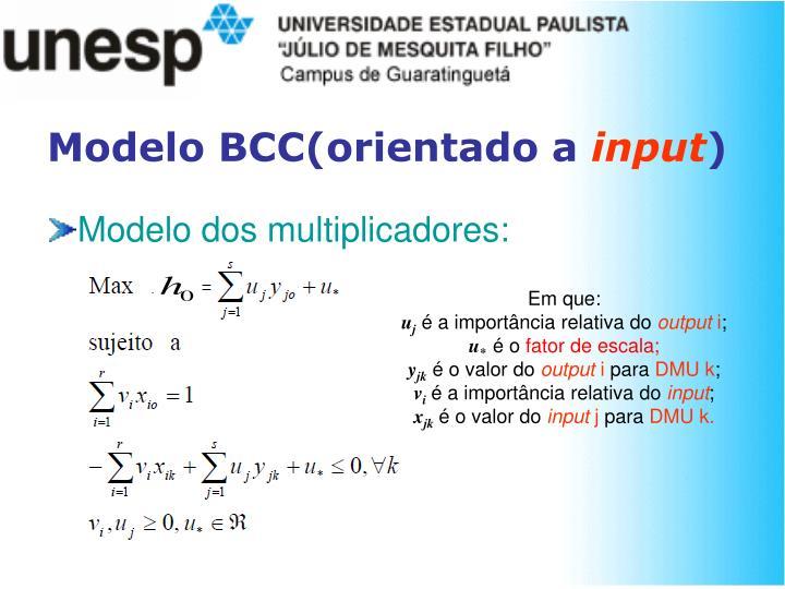 Modelo BCC(orientado a