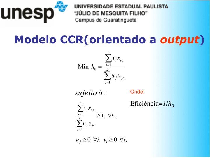 Modelo CCR(orientado a