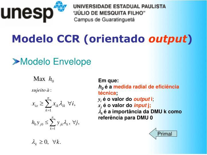 Modelo CCR (orientado