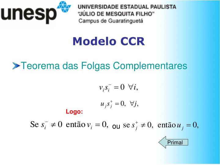 Modelo CCR