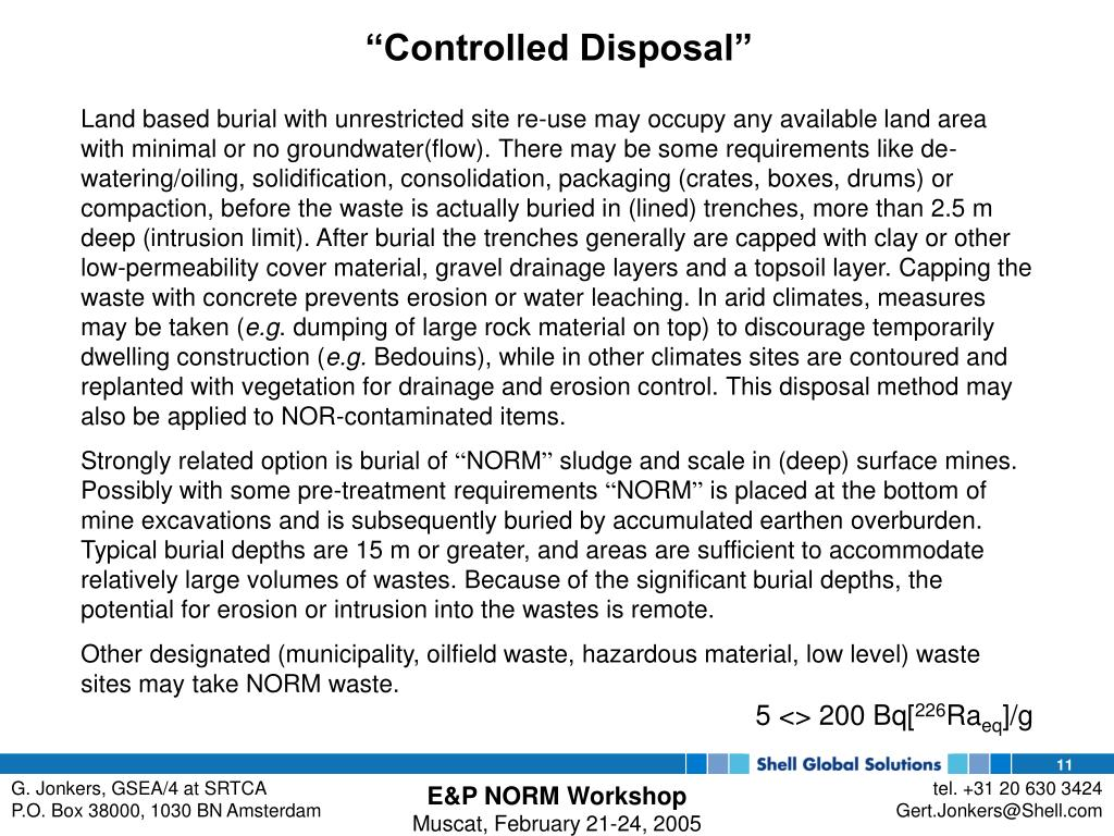 """Controlled Disposal"""
