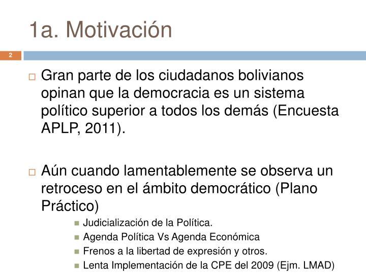 1a. Motivación