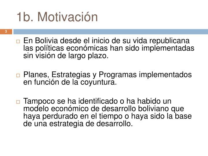 1b. Motivación
