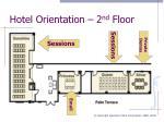 hotel orientation 2 nd floor