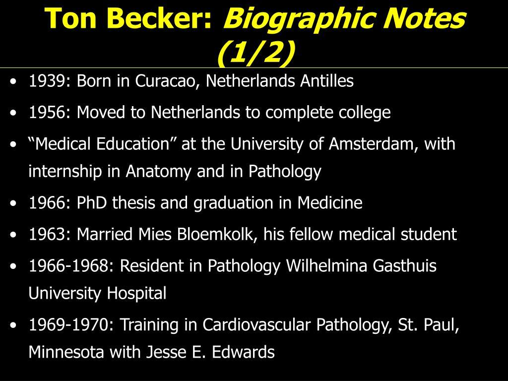 Ton Becker:
