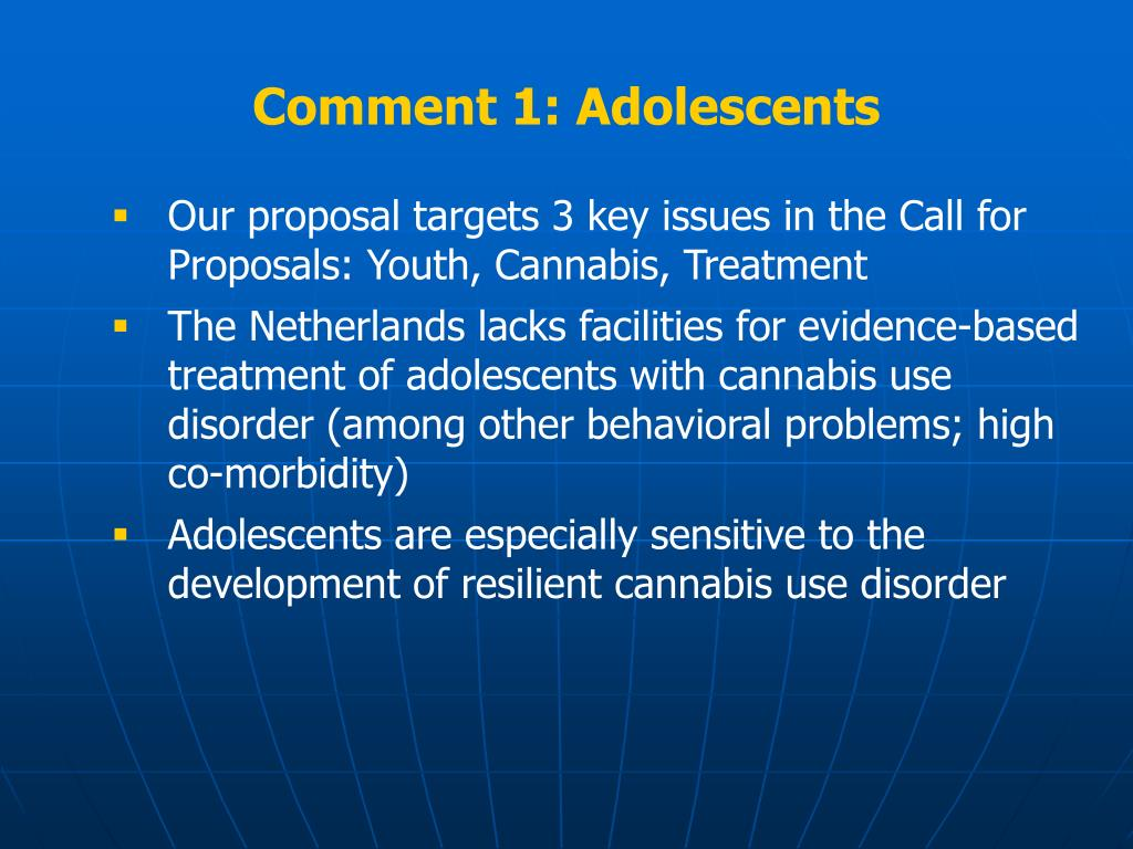 Comment 1: Adolescents