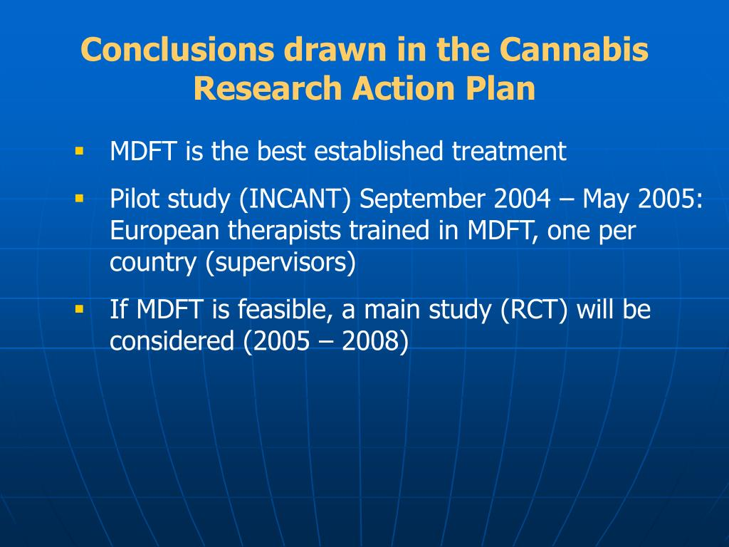 Conclusions drawn in the Cannabis Research Action Plan