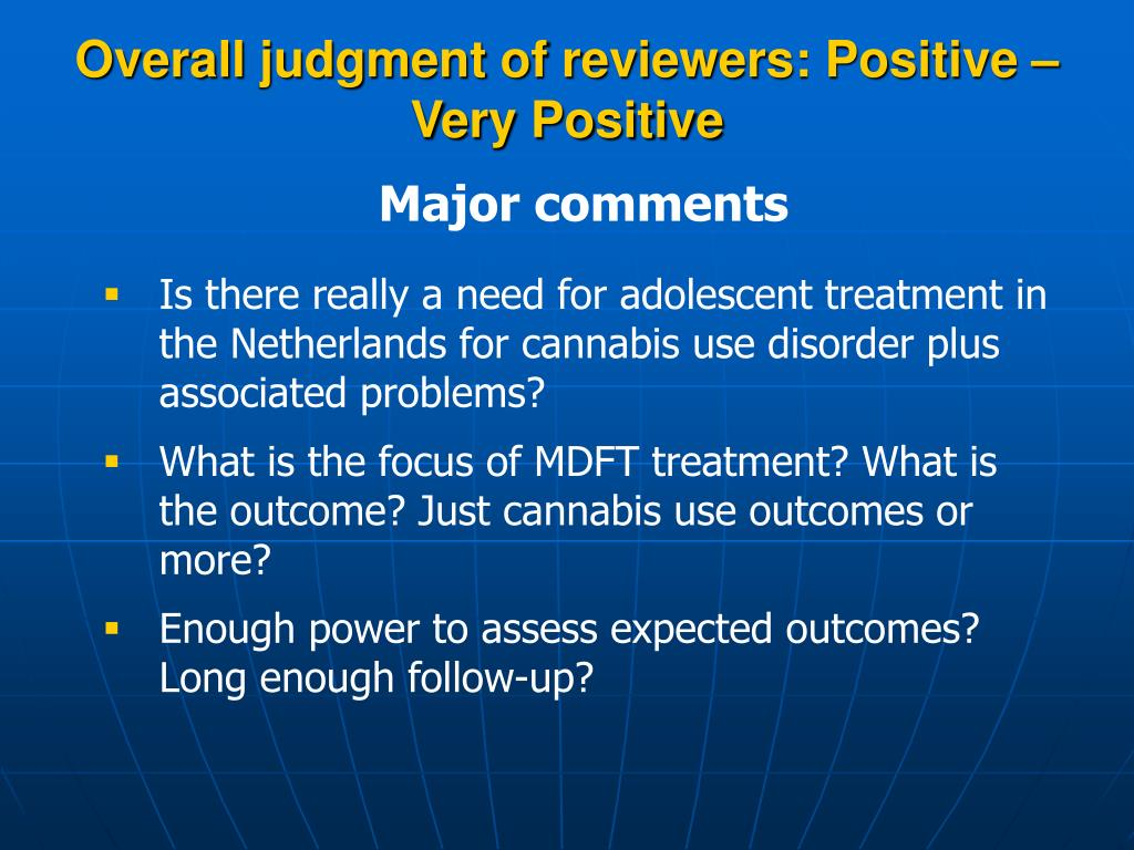 Overall judgment of reviewers: Positive – Very Positive