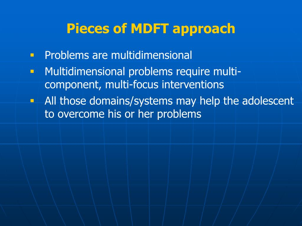 Pieces of MDFT approach