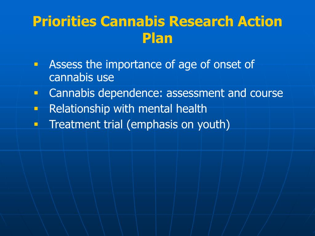 Priorities Cannabis Research Action Plan