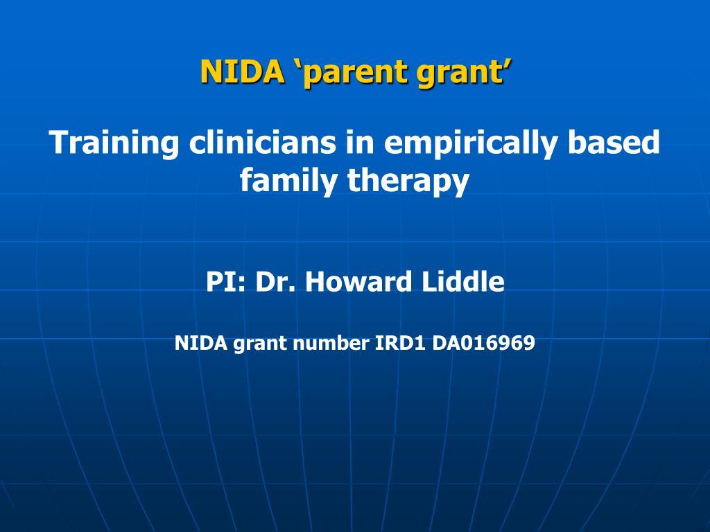 NIDA 'parent grant'