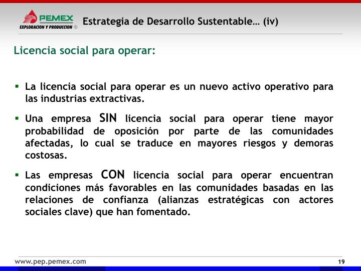 Estrategia de Desarrollo Sustentable… (iv)