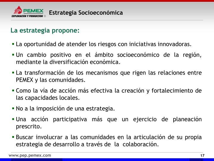 Estrategia Socioeconómica