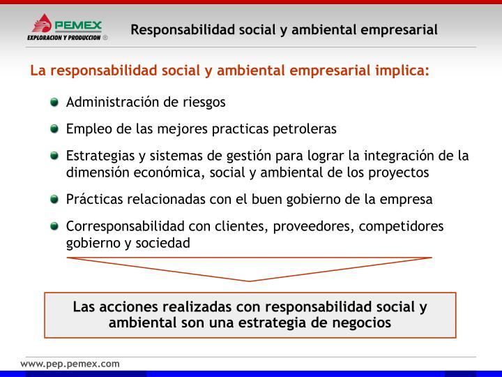 Responsabilidad social y ambiental empresarial