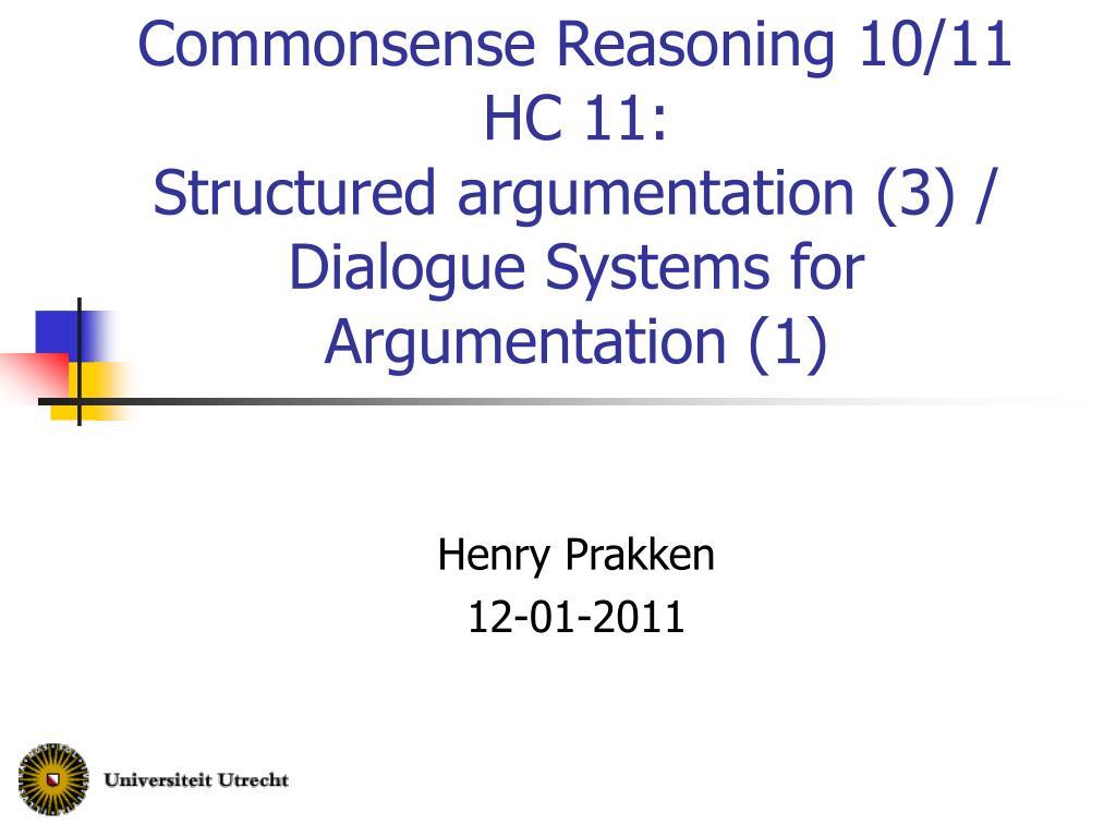 Commonsense Reasoning 10/11
