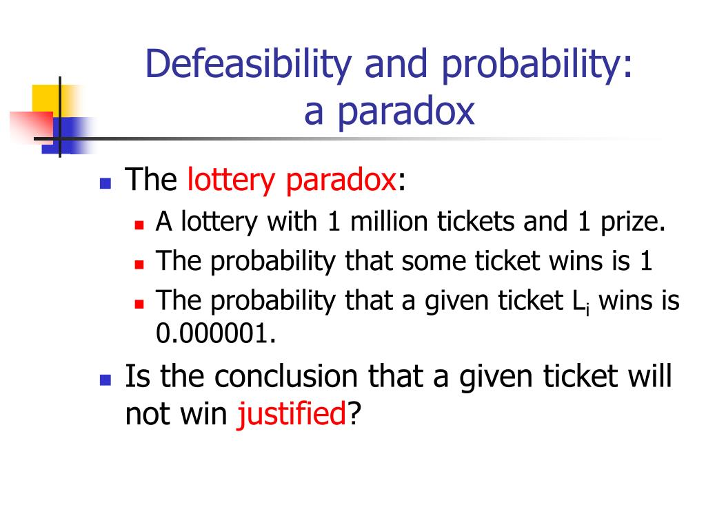 Defeasibility and probability: