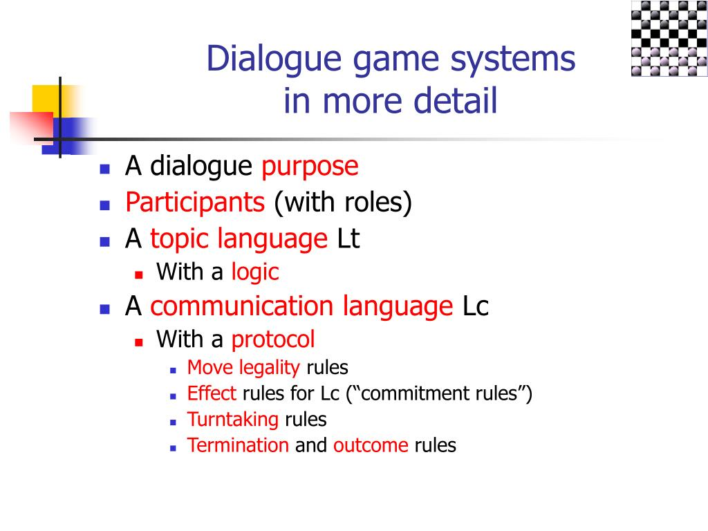 Dialogue game systems