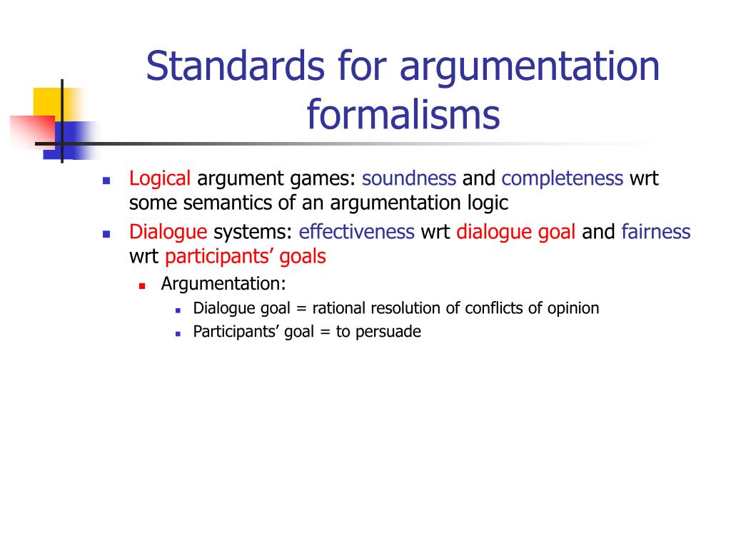 Standards for argumentation formalisms