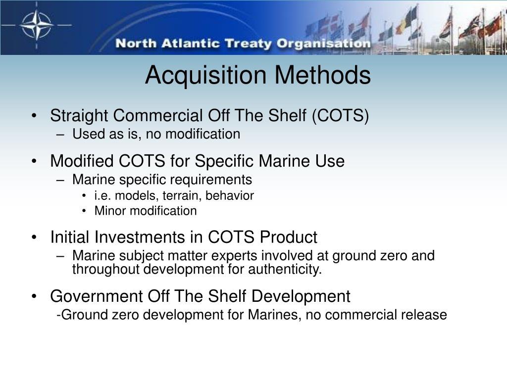 Acquisition Methods