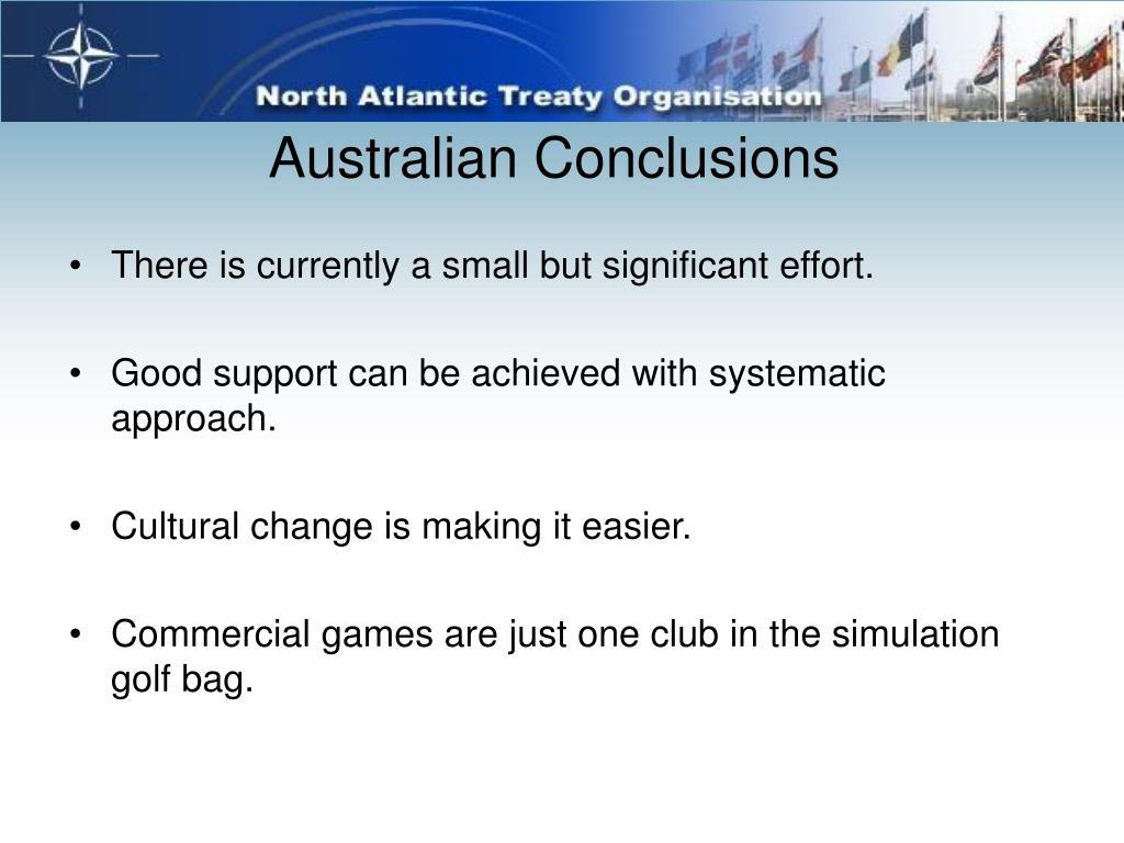 Australian Conclusions