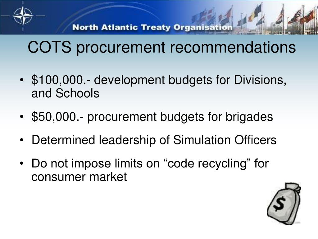 COTS procurement recommendations