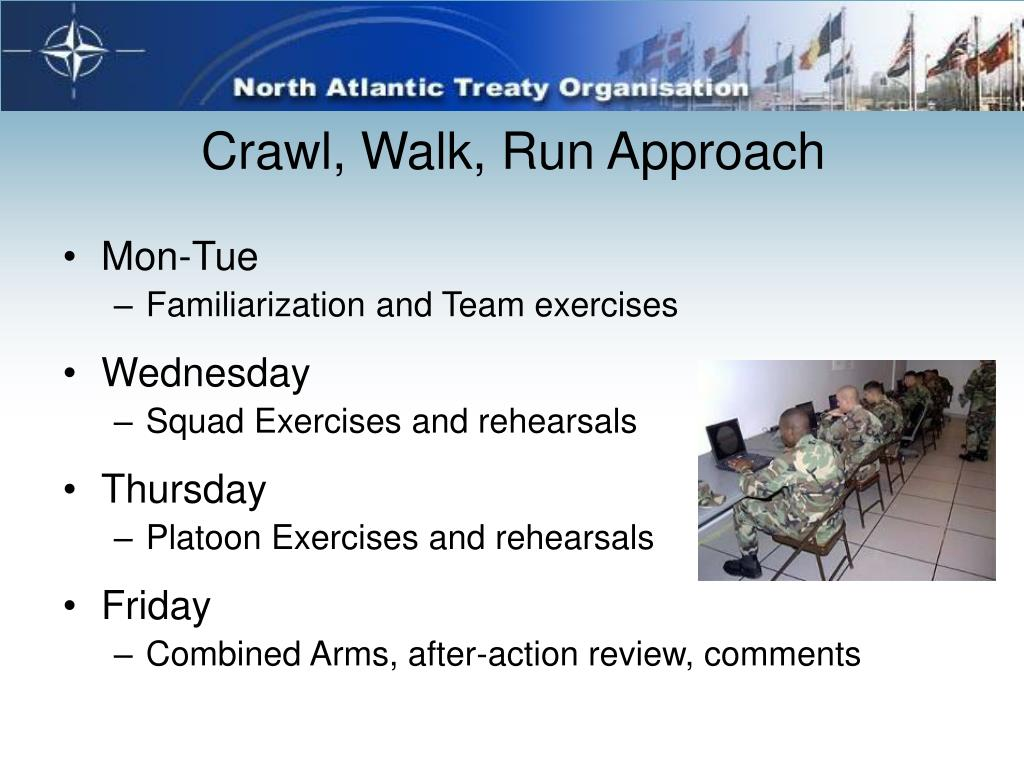 Crawl, Walk, Run Approach