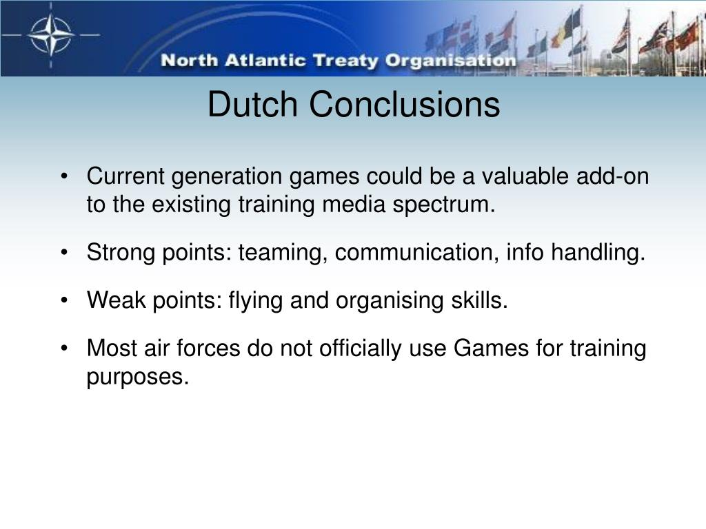 Dutch Conclusions