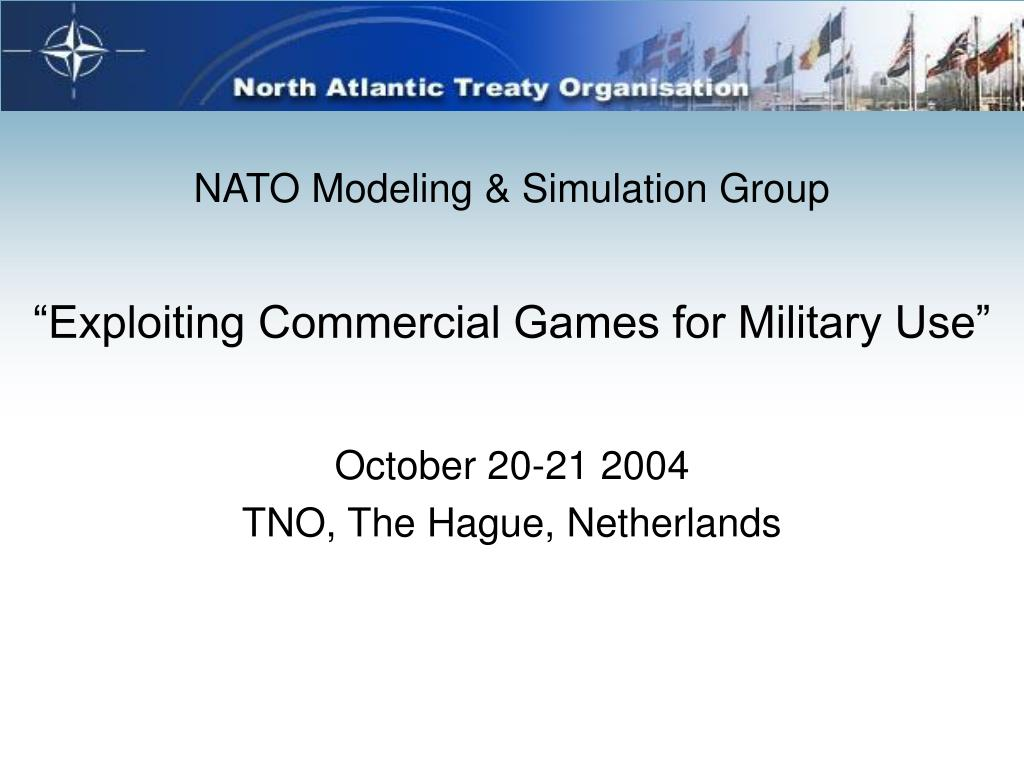 """Exploiting Commercial Games for Military Use"""