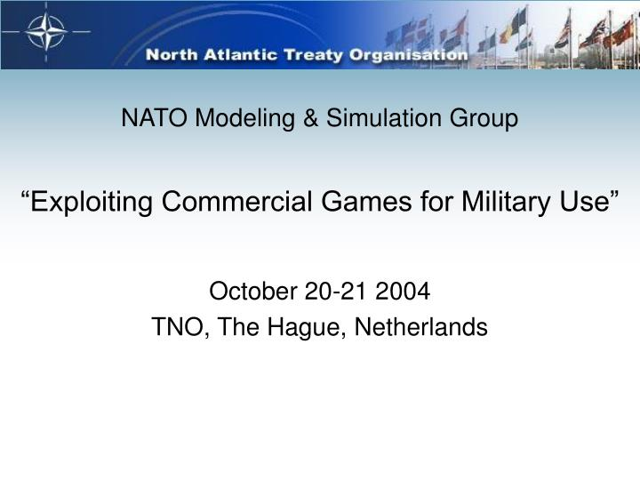 Exploiting commercial games for military use l.jpg