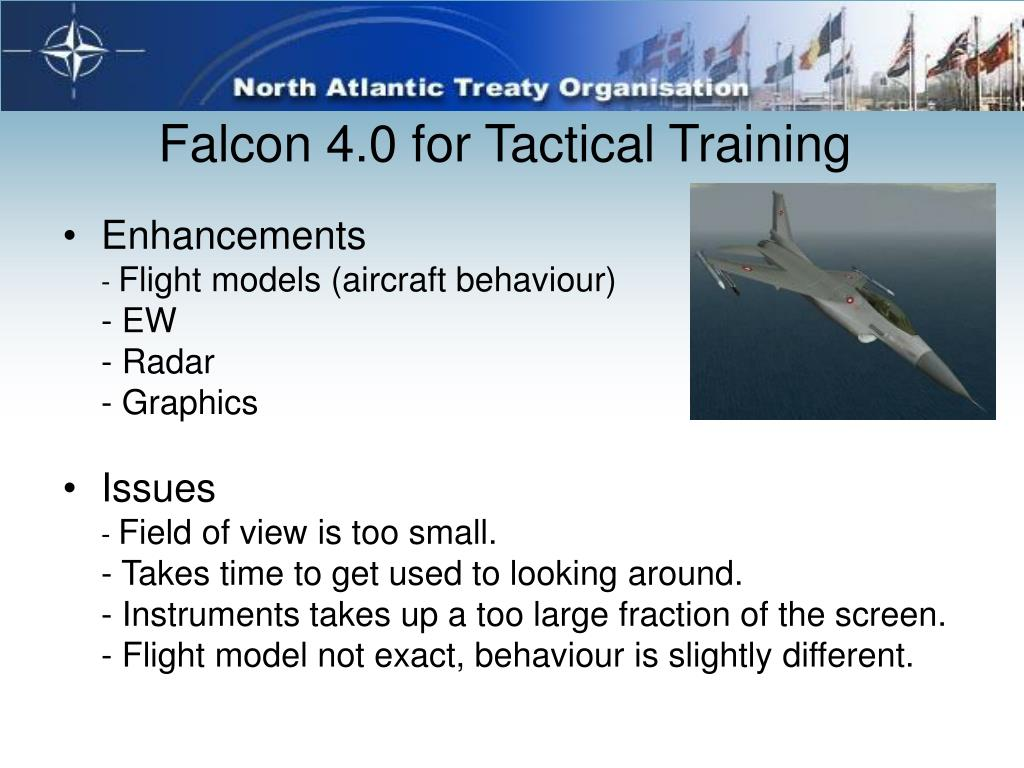 Falcon 4.0 for Tactical Training