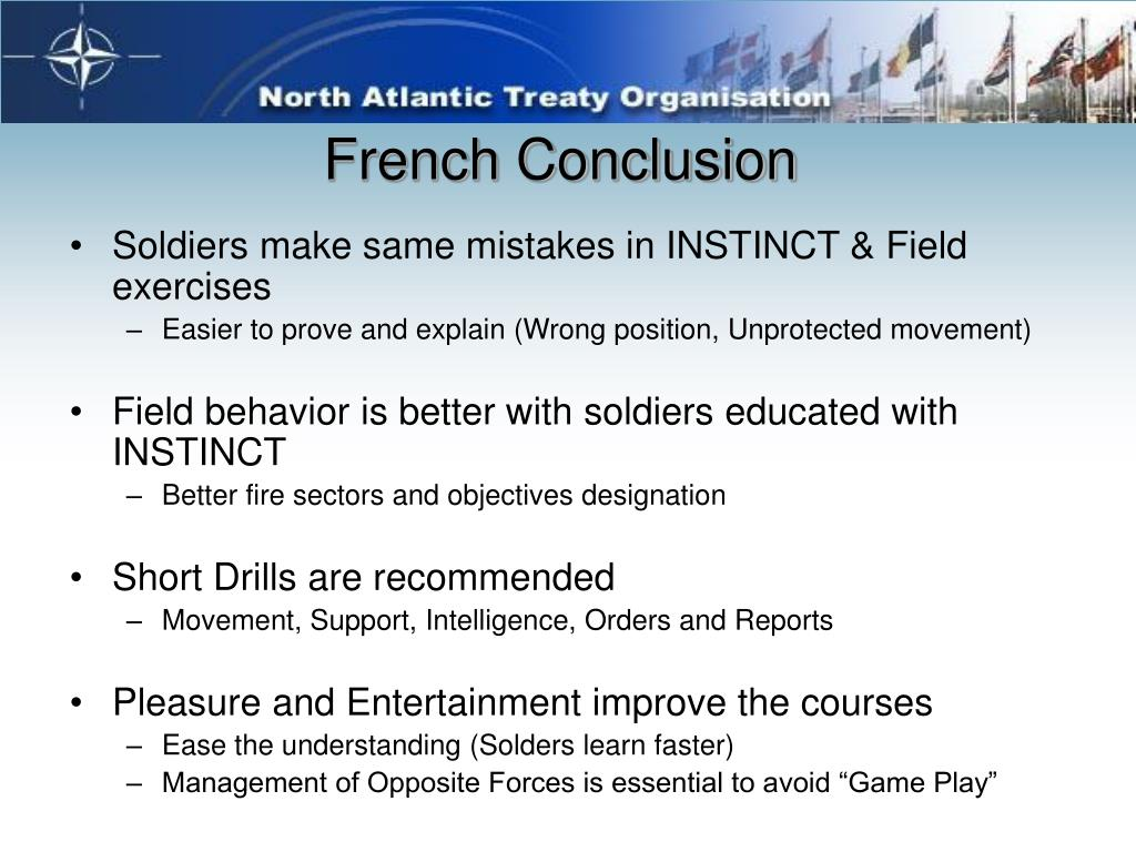 French Conclusion
